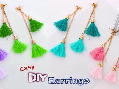 WOW! Beautiful Tassel earrings | How to Make Silk Thread earrings at home || DIY jewellery making