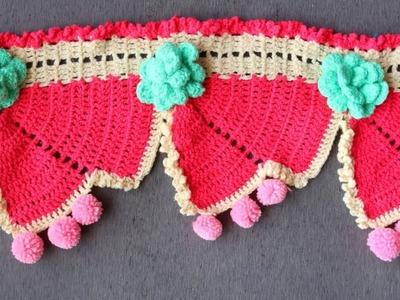 WOW!!! How to make Woolen crochet Toran Pattern || Door Hanging Toran from Woolen || Handmade