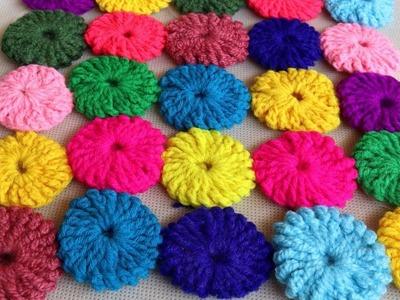 WOW !! Multi Color Woolen Rumal Making || Crochet Thalposh Woolen Rumal Making | Thalposh