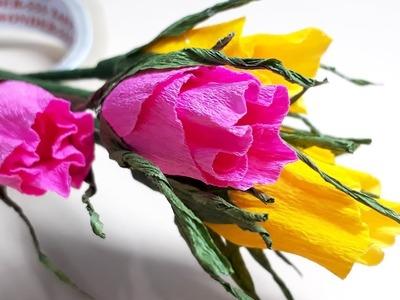 3 New Handmade Flower Tutorial Step by Step - DIY Paper flowers