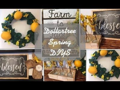 5 Dollartree Farmhouse Spring.Summer DIYS-Lemon Theme
