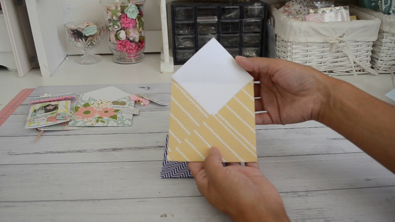 6x6 Paper | Two Style of Envelopes | No Punchboard | How To