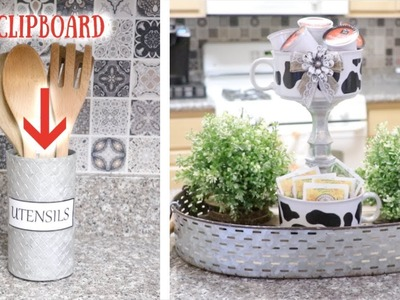 DIY DOLLAR TREE KITCHEN FARMHOUSE DÉCOR! SIMPLE & EASY! 21 MARCH 2019