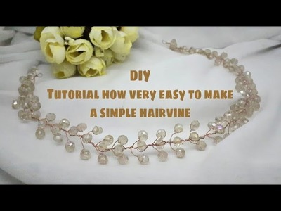 DIY How to make a hairvine. tiara very easy for beginer