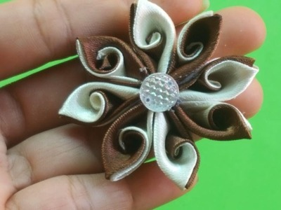 DIY. How to make Amazing ribbon flower-DIY easy to make ribbon flower