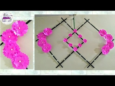 DIY  Paper Flower Wall Hanging | Best Out of waste |  Simple Home Decor