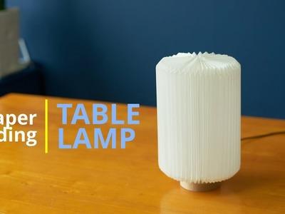 DIY - paper folding  Table lamp & Origami lampshade. 종이접기로 테이블 전등 만들기