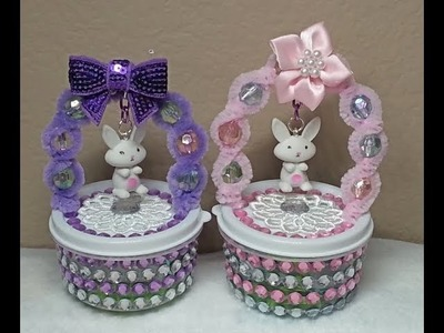 DIY~Sweet Bunny Basket Candy Holder Made With D.T. Materials!