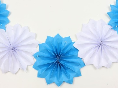 DIY Unique Wall Hanging Wall Decoration Idea with Paper Flowers - Easy Paper Flower Decorations