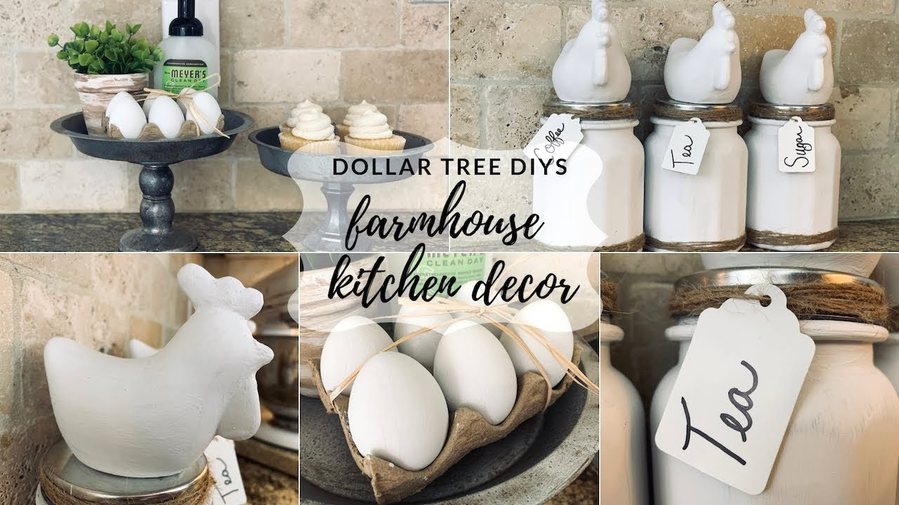 Dollar Tree Farmhouse Kitchen DIY