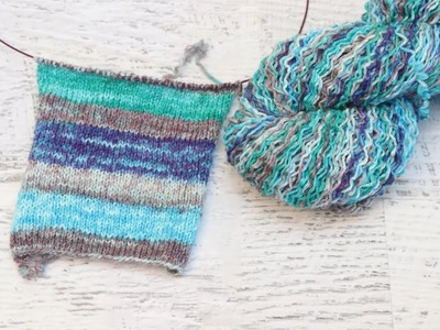 Dyepot Weekly #90 - Dyeing Self Striping Yarn with a 100 g Icord