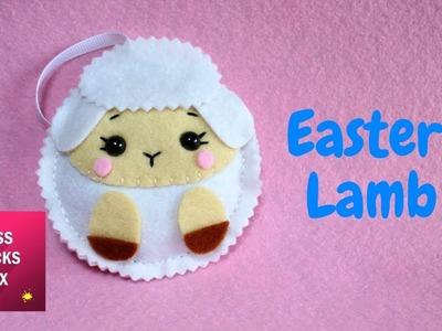 Easy Easter Lamb Felt Ornament | #5 Easter Crafts.
