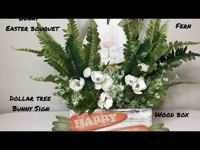 Farmhouse Style Spring Easter Decor.Dollar Tree DIY.Peek-A-Boo Bunny