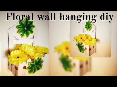Floral wall hanging diy || Balcony decor || Home decor || Best out of waste || Art & Essentials
