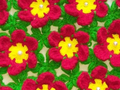 Flower Thalposh banane ki vidhi, woolen rumal design, #88,by ||Santosh All Art ||