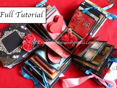 FULL TUTORIAL - 5 LAYERED EXPLOSION BOX   DIY GIFT IDEAS   EXPLODING BOX   EXPLOSION BOXES