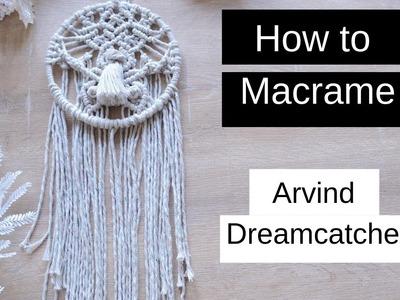 ????️ How to Macrame  DIY Dreamcatcher Macrame Wall Hanger