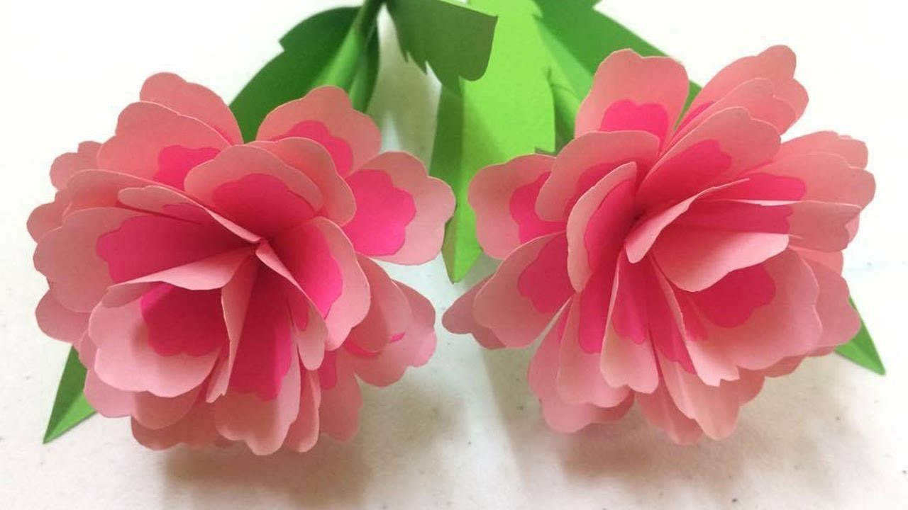 How to Make Beautiful Rose with Paper - Making Paper Flowers Step by Step - DIY Paper Flowers