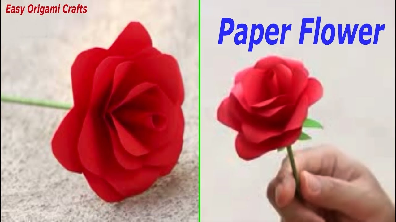 How To Make Origami Paper Craft Flower Making 2019 Home Decoration