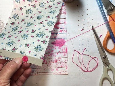 Journal on a Budget, video 6, Roman Shade Page Curtain Tutorial :)