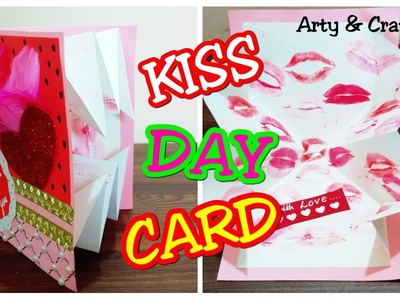 Kiss Day Popup Card.Valentine's Day Card Making.Kiss Day Gift Ideas.Handmade Popup Card
