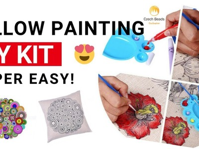 Make Pillow Cushion Cover Painting DIY Kit - EASY