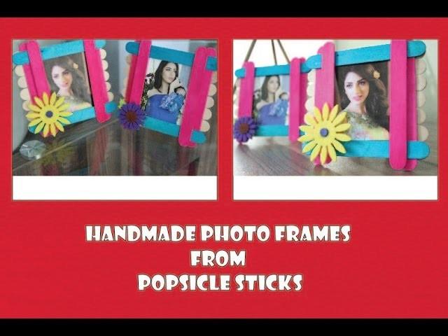 Mother`s Day Gift Popsicle Sticks Photo Frame: Home Decor