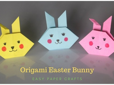Origami Easter Bunny   How To Make a Paper Rabbit   EASY Origami   Easter Paper Crafts