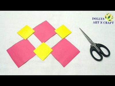Paper Art | DIY Simple & Easy Flower with Paper | Beautiful Flower with Coloured Paper |