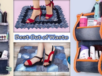 Reuse.  Old Jeans !!! 6 UseFull DIY Home Organization & Doormats Ideas