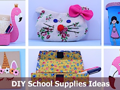 Smart DIY School Supplies Ideas and Back to  School Hacks | School Supplies Ideas by Aloha Crafts