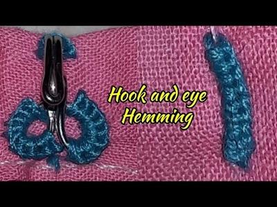 So easy make to hook & eye hemming stitching||| hook & eye stitching|| easy method by hook & eye
