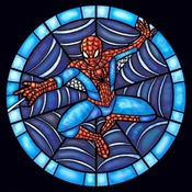 CRAFTS Stained Glass Spiderman Cross Stitch Pattern***LOOK***Buyers Can Download Your Pattern As Soon As They Complete The Purchase