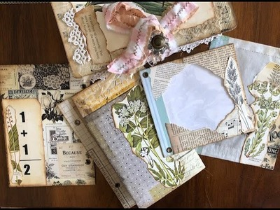 TUTORIAL - Part 5 - Making a Ring Bound Journal - Decorating the Pages