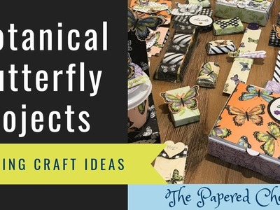 10 Projects using Botanical Butterfly dsp by Stampin' Up! - Spring Craft Fair & Easter Basket Ideas