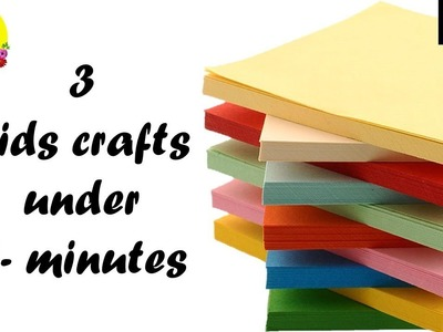 3 kids paper craft ideas easy in just 5 minutes | finger puppet making with paper | paper crafts