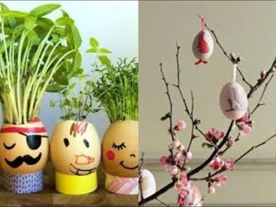 Awesome Crafting Ideas with Eggshell | Egg Shell art and craft || egg shell decoration