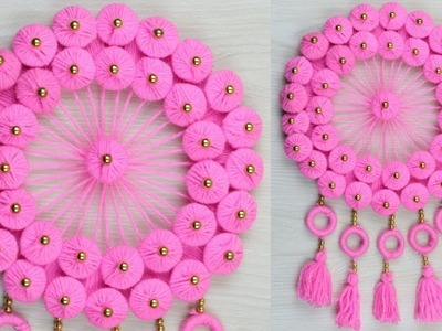 Best Out of Waste Woolen Craft Ideas.How To Make Woolen Door Hanging at Home.Woolen Craft Ideas