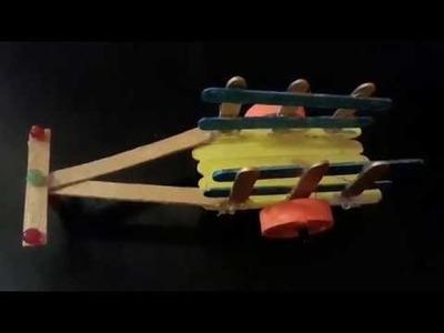Bullock cart diy.pop stick craft ideas.kids school project diy