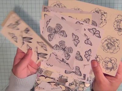 Create Your Own EPHEMERA (using Scraps & Stamps) I Video 2