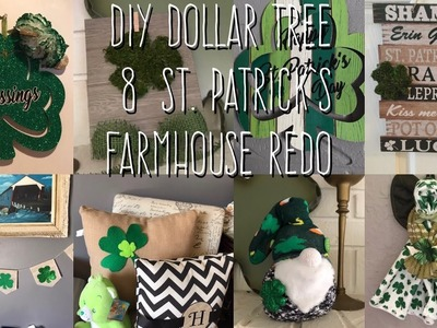 DIY Dollar Tree  8  St Patrick's  Farmhouse Redo