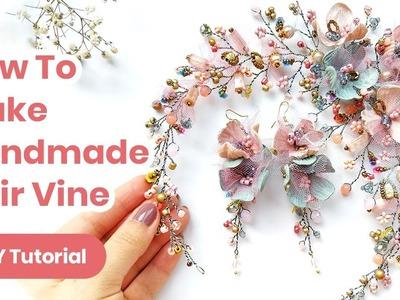 DIY Hair Accessory Handmade Idea. Wedding or Graduation Outfit. Spring Look 2019