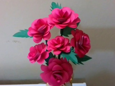 DIY paper Flowers craft idea. How to made colour paper of Rose . Beautiful Rose.