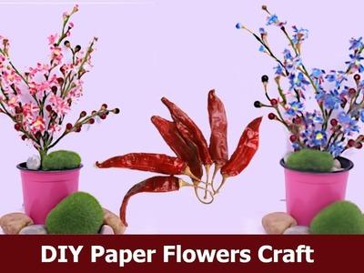 DIY Paper Flowers Craft | Tissue Paper Flowers art | Paper Flowers Decoration | Aloha Crafts