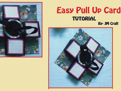 DIY Pull up Card for Scrapbook   by JM craft 2019