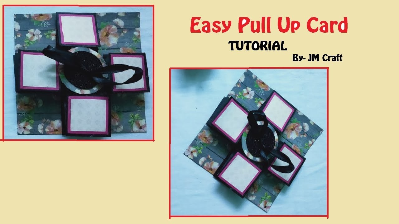 DIY Pull up Card for Scrapbook | by JM craft 2019