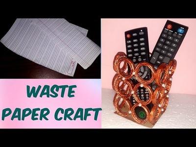 DIY Remote holder , best out of waste, paper craft