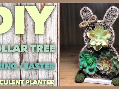 DIY Succulent Spring or Easter Farmhouse Planter - Dollar Tree Room Decor - Simple, Cheap & Easy DIY