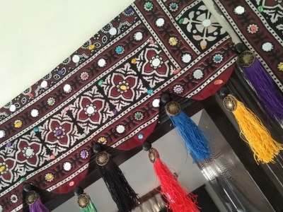 DIY Toran ???????? craft, Sindh culture for welcoming guest. Door decoration How to make from Ajrak