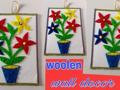 DIY woolen wall craft ideas. woolen wall showpiece. Home decor.room decor ideas